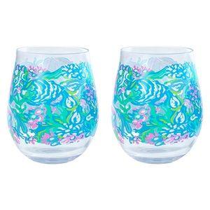 Lilly Pulitzer Aqua La Vista Acrylic Glasses